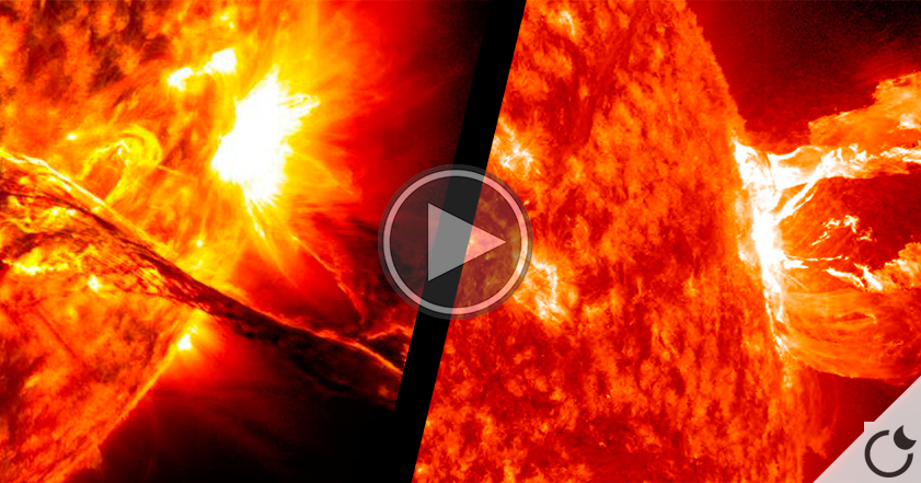 IMPRESIONANTE erupción solar en HD. (VIDEO)