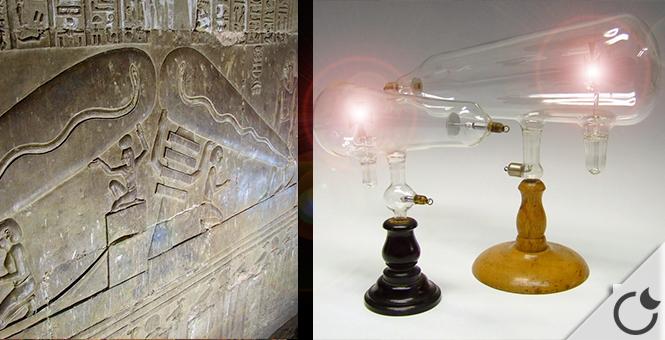 ¿ Los antiguos egipcios utilizaban la LUZ ELÉCTRICA ?