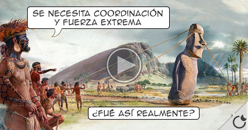 Resuelto EL TRANSPORTE DE LOS MOAIS de la Isla de Pascua. NADA PARANORMAL