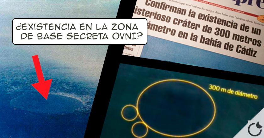 El CRATER de 300 m de diámetro en LA BAHIA DE CADIZ : Un MISTERIO CONDENADO