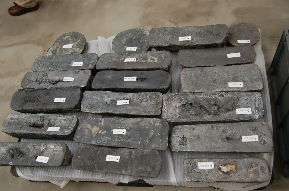 HISTORIA: Dos pecios del siglo XVI y XVII son hallados con su cargamento casi intacto en las obras del Puerto de Cádiz