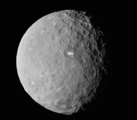 Luminarias extrañas en Ceres, el planeta enano del SS