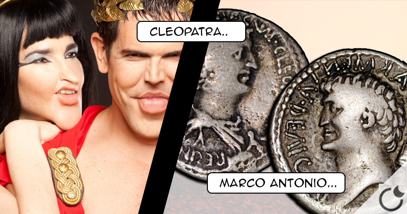 Una moneda destruye el MITO de la bella CLEOPATRA y el apuesto MARCO ANTONIO