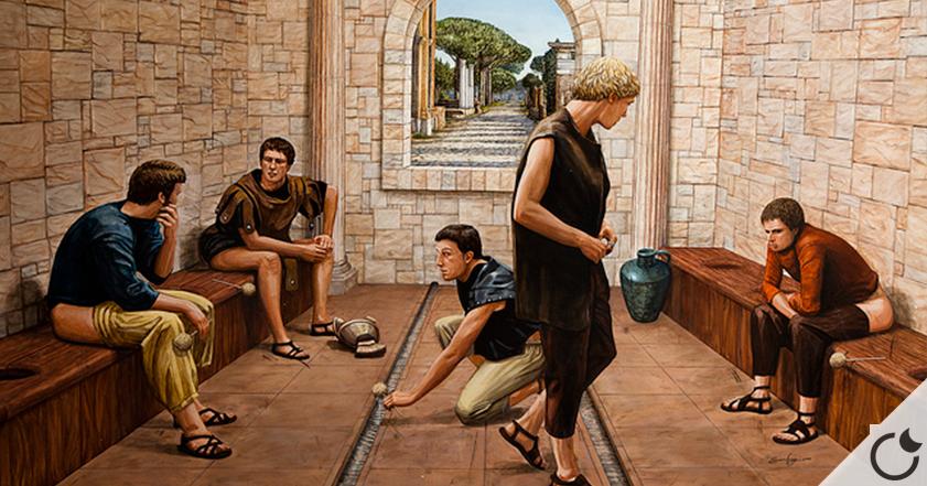 ¿A que no sabes cómo se limpiaban el trasero los romanos después de ir al baño?