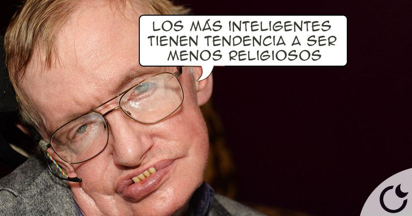 Stephen Hawking: Las personas CREYENTES son MENOS INTELIGENTES