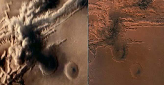 Sonda espacial fotografía un hongo nuclear REAL en Marte
