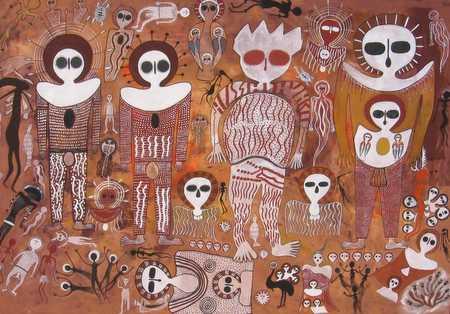 Aborígenas australianos y los dioses llegados del cielo. Los wandjinas