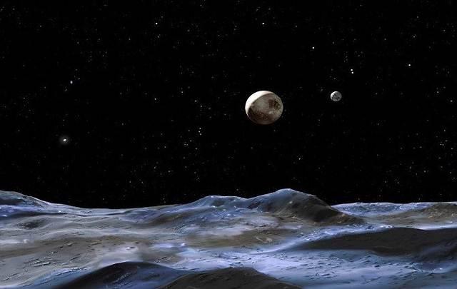 La NASA publica primeras imágenes a color de Plutón y su luna Caronte