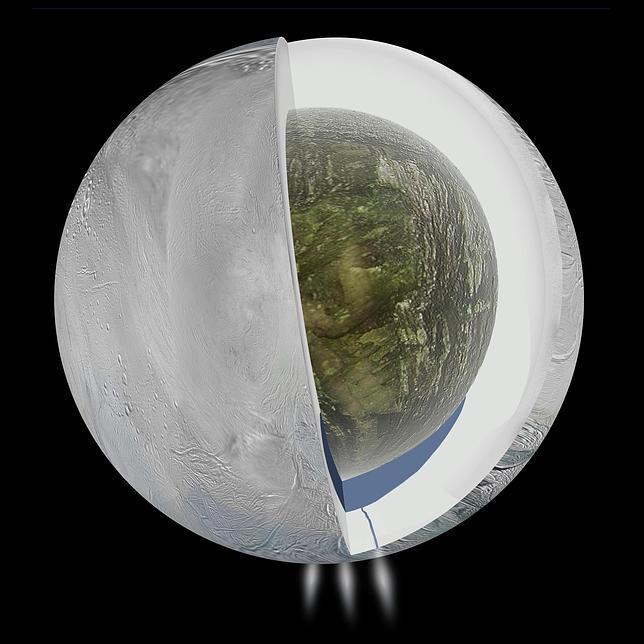 ASTRONOMIA: La luna Encelado tiene un océano subterráneo apto para la vida