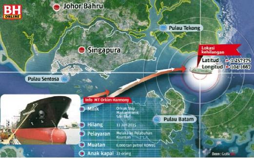 Desaparece misteriosamente un petrolero malasio con 6.000 toneladas de gasolina y 22 personas