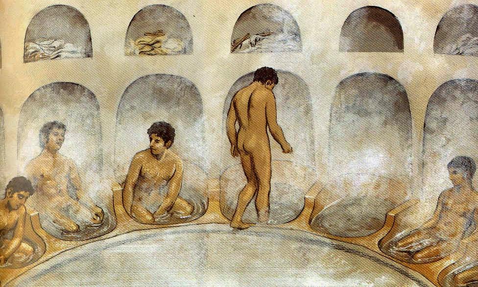 ¿Cómo se bañaban en la antigüedad?