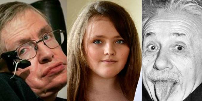 Niña de 12 años supera el coef. intelect. de Hawking y Einstein