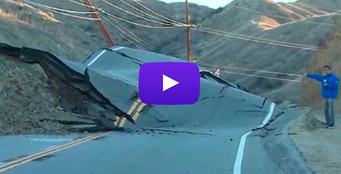 ¿Qué provocó que la tierra debajo de ésta carretera en Calofirnia se elevara así?(VIDEO)