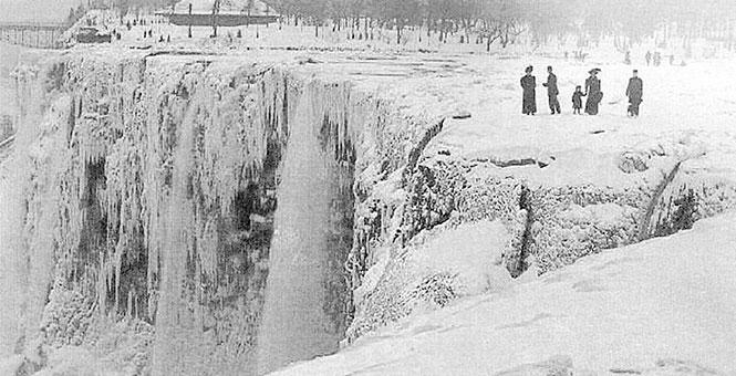 Los años en que se congelaron las cataratas del Niágara.
