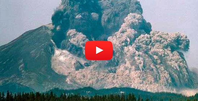 La erupción volcánica mas brutal jamas filmada. La de Santa Helena en 1980