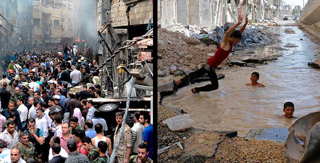 14 fotos del viaje al centro de la guerra de Siria