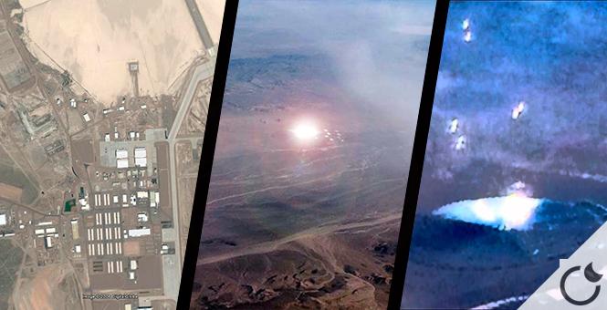 OVNI lanzando esferas de luz cerca del Área 51.Un pasajero de un avión lo fotografía