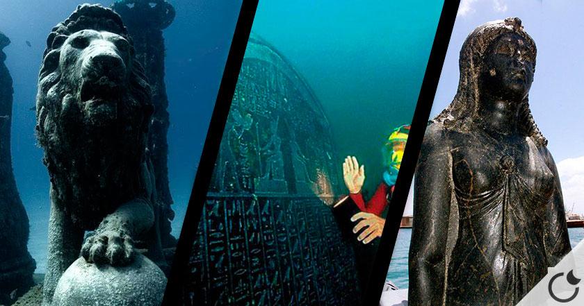 Ciudad egipcia tragada por el mar descubierta con 1200 años de antigüedad.