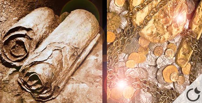 Rollo de Cobre del mar muerto:Mapa del tesoro del templo de Jelusalén (valorado en 1000 millones de dolares)