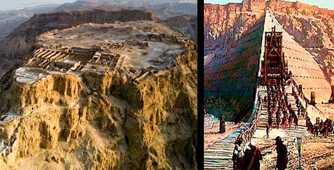 Masada. Los romanos contruyeron UNA MONTAÑA para conquistarla.