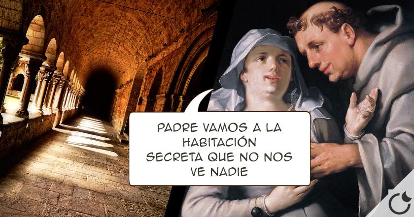 AMOR PROHIBIDO en los monasterios y claustros medievales