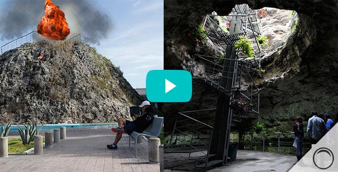 El volcán más pequeño del mundo: Cuexcomate (México)