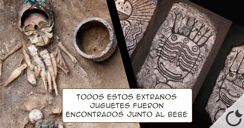 Sorprendentes juguetes y extraño casco metálico para un bebé de hace 4.500 años