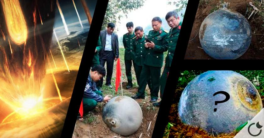 BOLAS metálicas extrañas caen del cielo en Vietnam.