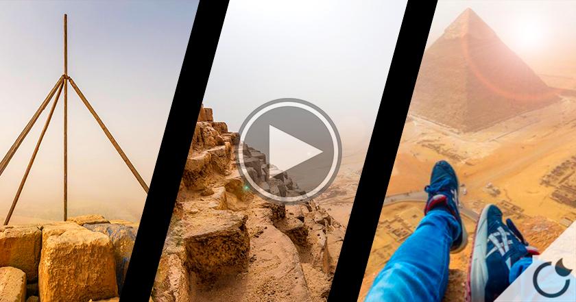 Se subió a la cima de la GRÁN PIRÁMIDE para grabación espectacular y fue arrestado por ello (Vídeo)