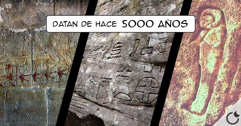 ¿Jeroglíficos egipcios en Australia? Si , y de 5000 años de antigüedad.