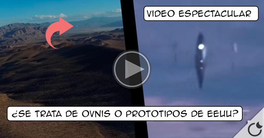 Graban misteriosos OVNIS sobre LOS HANGARES DEL ÁREA 51.
