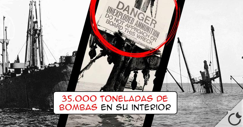Un barco HUNDIDO de la 2GM amenaza con LA MAYOR EXPLOSIÓN DE LA HISTORIA. 3..2..1..