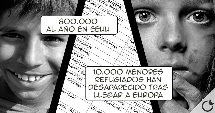 Cada año en EUROPA DESAPARECEN MAS DE 250.000 NIÑOS