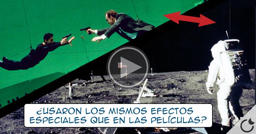 CABLES sujetando a los astronautas en EL FALSO VÍDEO DEL ALUNIZAJE con el que NOS ENGAÑARON