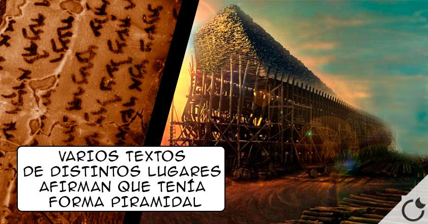 El ARCA de NOÉ tenía FORMA de PIRÁMIDE según los EVANGELIOS APÓCRIFOS