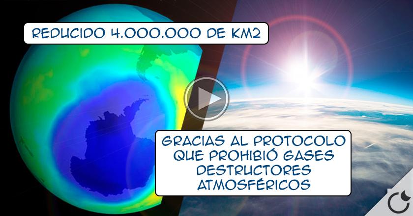 El agujero de ozono SE REDUCE en ¡4 MILLONES de kM2! EL MUNDO LO CELEBRA