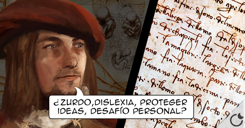 ¿Por que MOTIVO Leonardo da Vinci escribía AL REVES?
