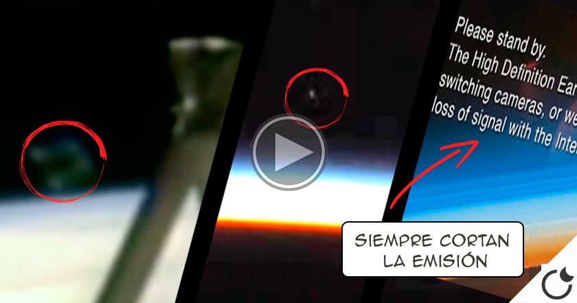 DE NUEVO la ISS CORTA LA SEÑAL en directo tras la presencia de un OVNI…