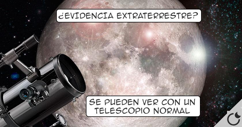 ¿Qué son esas LUCES MÓVILES DE LA LUNA que TODOS ven CON TELESCOPIOS BÁSICOS?