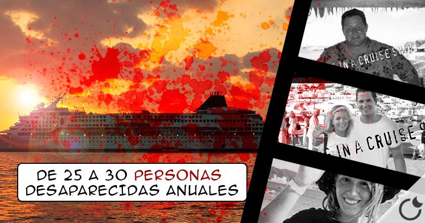 Las misteriosas DESAPARICIONES en CRUCEROS hoy día. 164 desde 1995