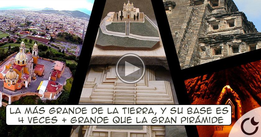 La pirámide MÁS GRANDE DEL MUNDO y con una iglesia católica ENCIMA: CHOLULA