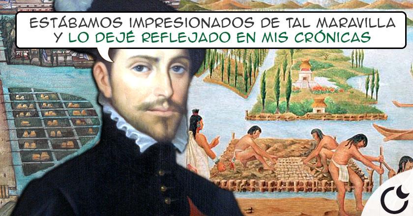 Los astutos CULTIVOS FLOTANTES de los aztecas que IMPRESIONARON a los españoles: Las CHINAMPAS