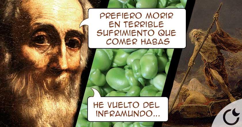 El MIEDO irracional de PITÁGORAS a LAS HABAS y su FALSO descenso al inframundo