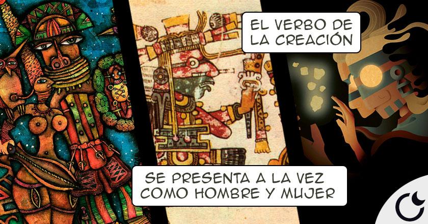 DIOS PADRE DE LA CREACIÓN AZTECA que se creó 1º ¡A SI MISMO!: OMETEOTL