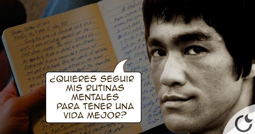 Conoce la RUTINA PERSONALl de ejercicios mentales de Bruce Lee para FORTALECER EL ESPÍRITU