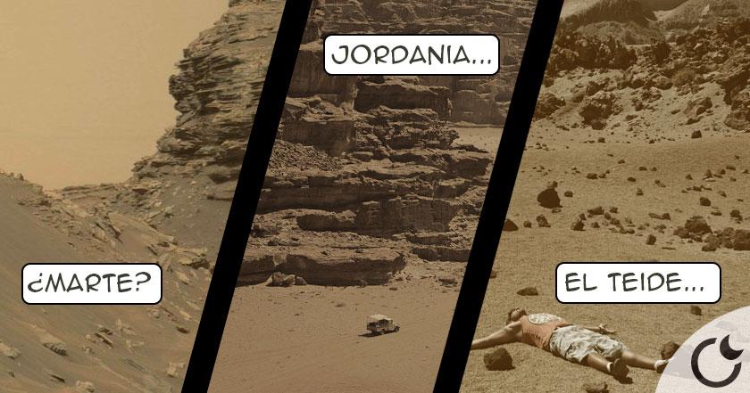 7 lugares terrestres  SOSPECHOSOS e IDÉNTICOS a las fotos MARCIANAS del Curiosity