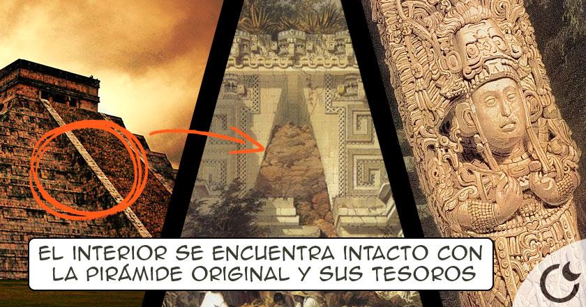 Enigmática PIRÁMIDE encontrada en EL INTERIOR DEL TEMPLO de Kukulcán revoluciona la arqueología