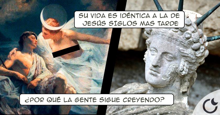 ATTIS el dios Frigio-romano que nació el 25 DE DIC., falleció EN CRUZ y RESUCITÓ