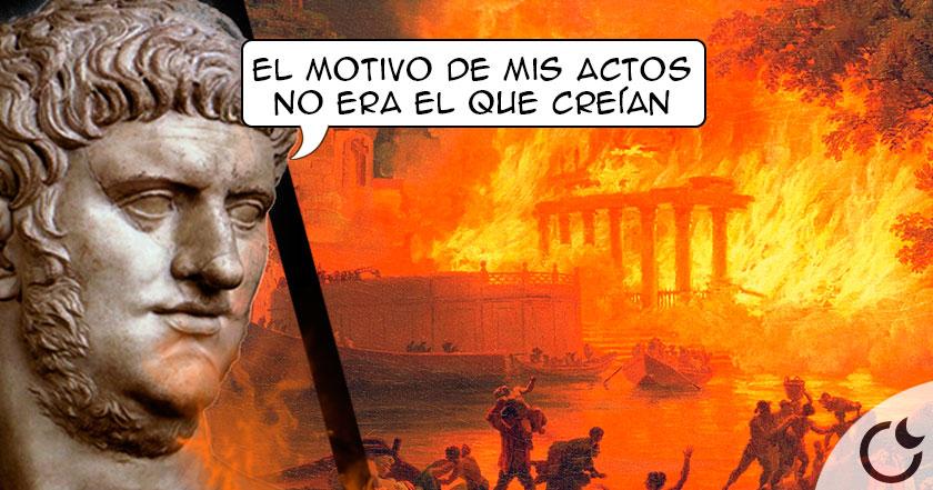 Nerón incendió Roma para erigir su gran Palacio
