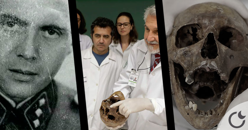 Los huesos del nazi DOCTOR MUERTE usados para estudio de medicina en Brasil